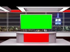 FREE GREEN SCREEN | Awesome tv news virtual set - YouTube