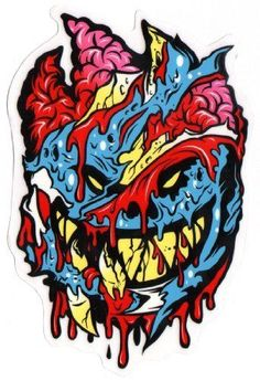 2485392add Spitfire Wheels - Brainy Zombie Skateboard Sticker - Monster Horror Scary  New. Brand new sticker made by the manufacturer - not an unofficial  copy reprint.