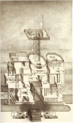 paul noble, axonometriskt perspektiv