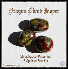 Dragon Blood Jasper Meaning What is Dragon Blood Jasper? Dragon blood jasper is only found in Western Australia the home of the largest dinosaur footprints in the world.