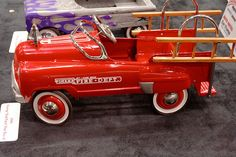 """Murray """"Sad Face"""" Fire Truck Pedal Car - View #4 by cunningba, via Flickr"""