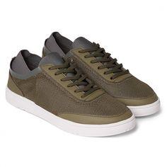 Larson - Lace Up Aqua Shoe - Dark Ochre/Dark Grey/White