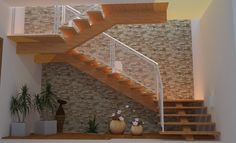 escadas residenciais de madeira - Pesquisa Google