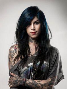 Hot #tattooed girl. Cat Von do the queen of tats