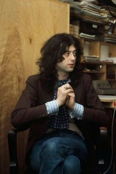 Jimmy Page during an interview