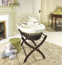 Bassinet...chocolate brown with white inners