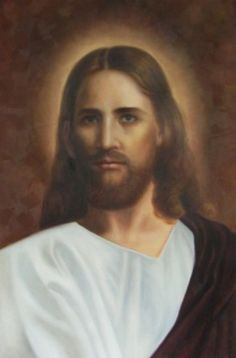 """Therefore let all Israel be assured of this: God has made this Jesus, whom you crucified, both Lord and Christ."" Acts (Portrait of Jesus by Arnold Ahlstrom) Images Of Christ, Pictures Of Jesus Christ, Religious Pictures, Jesus Son Of God, King Jesus, Names Of Jesus, Jesus Painting, Jesus Face, Christ The King"