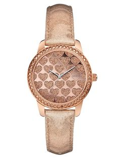GUESS Ladies Rose Gold Heart Crystal Watch for sale online Luxury Watches, Rolex Watches, Bracelet Or Rose, Unusual Watches, Michael Kors Watch, Fashion Accessories, Bling, Rose Gold, Models