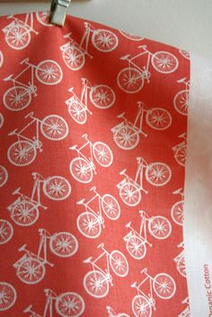 ORGANIC Ride in Coral  Commute Collection by by sewfinefabric, $16.50