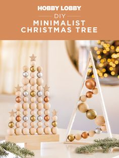 Turn rustic beads into radiant baubles for a minimalistic look this holiday season.
