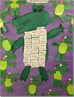 Contraction Crocodile...kids choose 5 contractions and make their own crocs