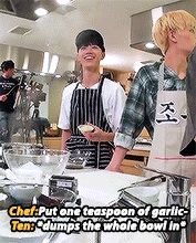 Me trying to cook ( both ten and taeil)