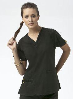 Wink Scrubs Women's V-Neck Two Pocket Flex Top #scrubtops