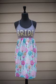 SALE Pink Promises  BRIDE To Be DressPink/green  by thearmorofGod
