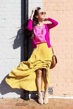 Movement of a skirt