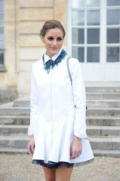 オリビア・パレルモ - これぞ究極のレディスタイル!上品な白とまとめ髪でDiorショーにて | CELEB SNAP