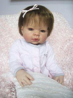 Lee Middleton MUNCHKIN REBORN Hazel Eyed Baby Girl Doll 3/4 Limbs Adorable OOAK #Reborn