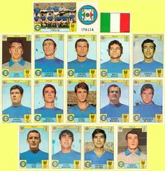 Italy stickers for the 1970 World Cup Finals.