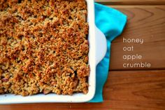 Family Feedbag: Honey Oat Apple Crumble