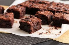 Fudgy No-Butter Brownies (gluten-free, dairy-free)