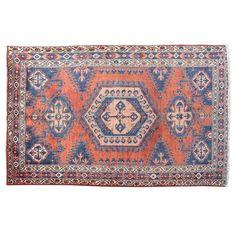 "6'10"" x4 11'"".Oriental floor carpet, Luxury Persian rug made of merino wool, Geometric design, Hand knotted, area rug, Vintage wool rug, Red Rug, Woven Handmade, Code : S0101335"