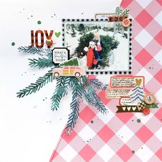 Hip Kit Club 12 Days of Giveaways Day (Audrey's Reflection) Christmas Scrapbook Layouts, Love Scrapbook, Scrapbooking Layouts, Scrapbook Paper, Scrapbook Sketches, Bee Creative, Hip Kit Club, Crate Paper, Candy Cards