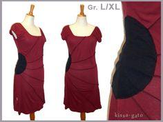 Farb- und Stilberatung mit www.farben-reich.com - Tunika SUN L XL Longshirt weinrot Kleid kissa-gato von kissa-gato auf DaWanda.com
