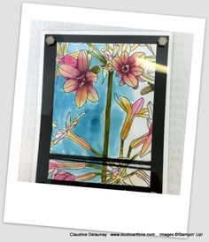 Tableaux D'inspiration, Stampin Up, Frame, Decor, Watercolor Painting, Projects, Cards, Picture Frame, Decoration
