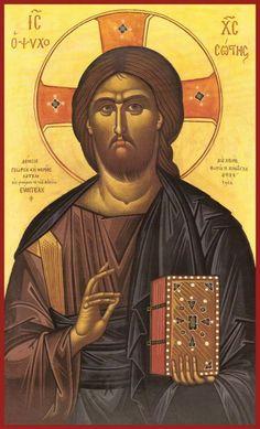 Photis Kontoglou: The Last Anti-Classicist Religious Images, Religious Icons, Religious Art, Byzantine Icons, Byzantine Art, Roman Church, Roman Catholic, Christ Pantocrator, Paint Icon