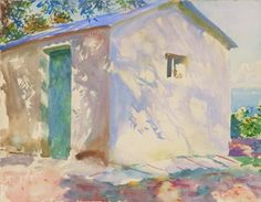 """Corfu: Lights and Shadows, 1909 by John Singer Sargent. From the collection of John Singer Sargent watercolors at the Brooklyn Museum. John Singer Sargent Watercolors, Kunsthistorisches Museum, Inspiration Art, Wow Art, Museum Of Fine Arts, Light And Shadow, Oeuvre D'art, American Artists, Watercolor Paintings"
