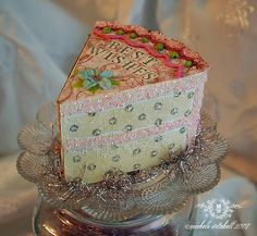 Decorated Paper Cake Box