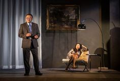 Donald Li (James) and Jodi Long (Artemis) in the world-premiere production of The World of Extreme Happiness by Frances Ya-Chu Cowhig at Goodman Theatre