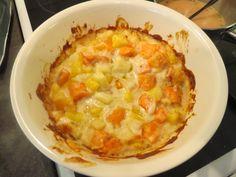 http://www.hopottajat.fi/apetitgratiinit/ bataatti-juuresgratiinia. Sopii joko lisukkeeksi tai sellaisenaan syötäväksi