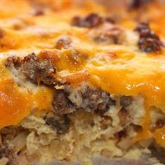Jimmy Dean Holiday Breakfast casserole.  Always a hit and easy to make ahead the night before and bake in the morning