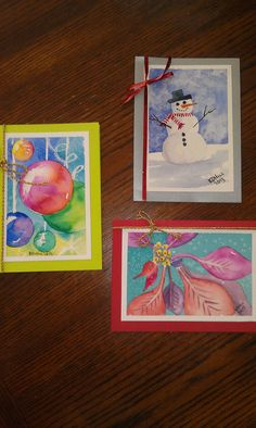 Original Watercolor Christmas Cards Lot of by WonderfullWatercolor, $8.00