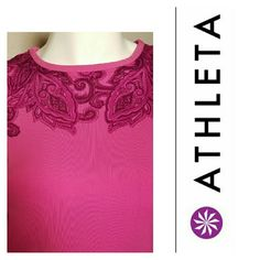 Athleta Pink Muscle Up Pink paisley muscle up tank. Excellent condition. Worn once. Athleta Tops Tank Tops