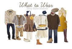 One color sceme, with different types of outfits: dresses, skirts, boots, hats…