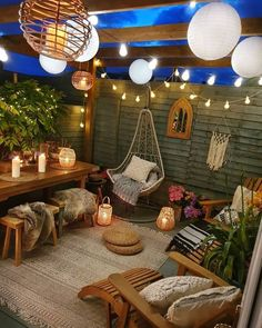 Summer is finally here, which means it's time to think about your backyard entertaining options. Your exterior space doesn't have to be b. Backyard Patio Designs, Backyard Landscaping, Patio Ideas, Garden Ideas, Outdoor Rooms, Outdoor Living, Outdoor Decor, Balkon Design, Small Patio