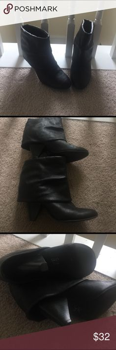 Vera Wang Booties Good condition. Great for many outfits. Slip on Booties, very comfy with 2 inches of heels. Simply Vera Vera Wang Shoes Ankle Boots & Booties