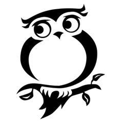 Owl Die Cut Vinyl Decal PV698