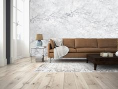 Non-Woven Wall White Marble Premium Wall Murals Non-Woven Wall Murals 8-part