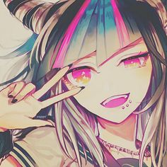 Ibuki Mioda... Love this girl! OO she's so cool!! I go pin images of mio... Mio.... Mio truc. ><