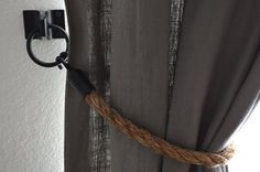 Rope Tiebacks - my next DIY to go with my burlap curtains.  (As seen in Restoration Hardware for 3x the amount)!