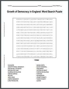 Chinese communist revolution word search puzzle for high school growth of democracy in england word search puzzle free to print pdf file fandeluxe Choice Image
