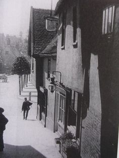 Schergate Steps looking towards Abbeygate Street in the late 1890`s.