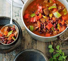 Rindfleisch-Bohnen-Topf mit Paprika
