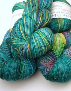 Hand Dyed Fingering/Sock Yarn, Peacock