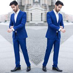 Indian Men Fashion, Mens Fashion Suits, Mens Suits, Men's Fashion, Blue Suit Wedding, Wedding Groom, Wedding Suits, Royal Blue Mens Suit, Blue Blazer Outfit Men