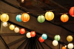 Paper lanterns string lights