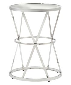 Mirror Round Side Table